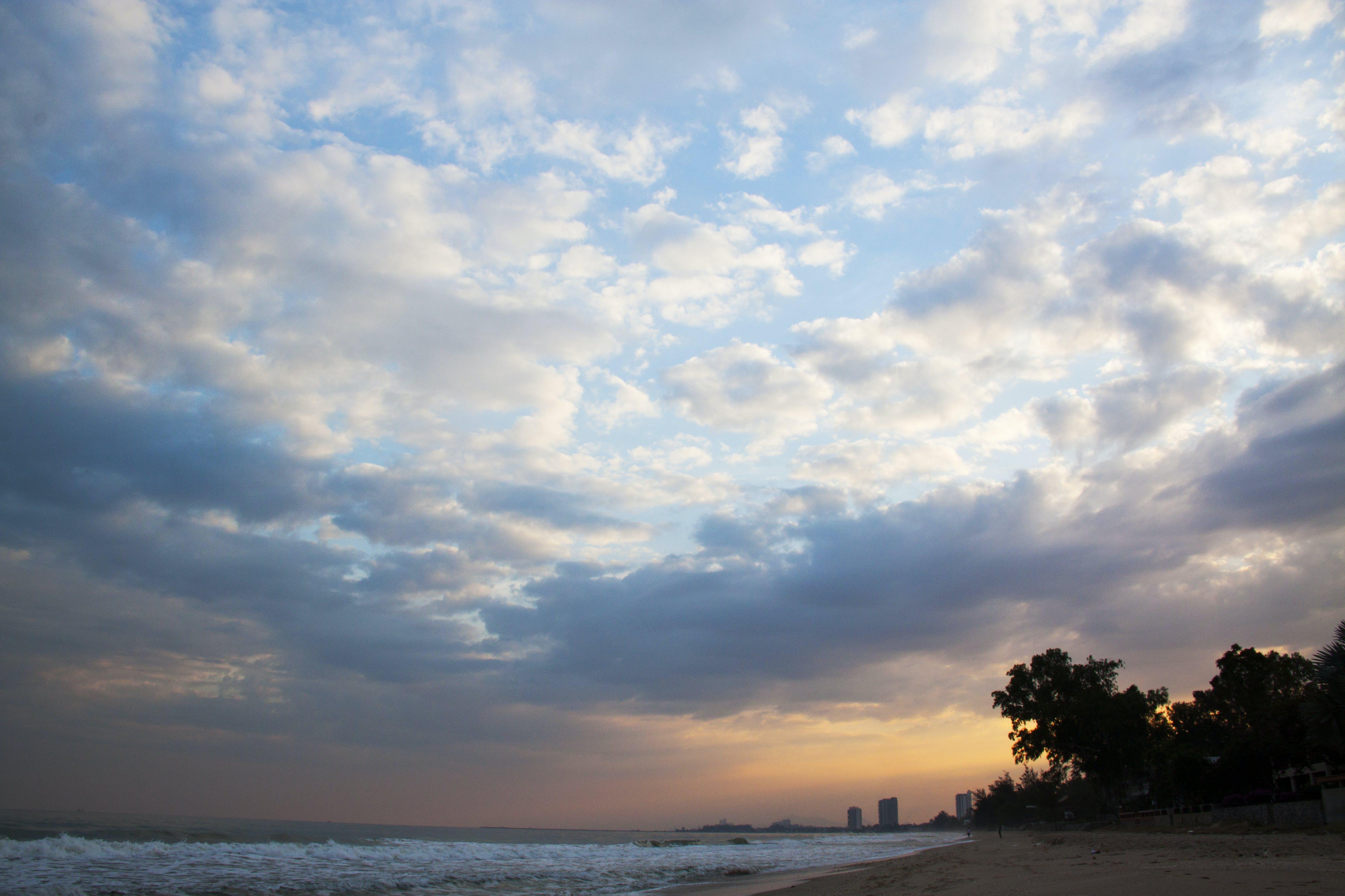 Free stock photo of blue sky, morning, sea, sky