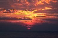 sea, sky, sunset