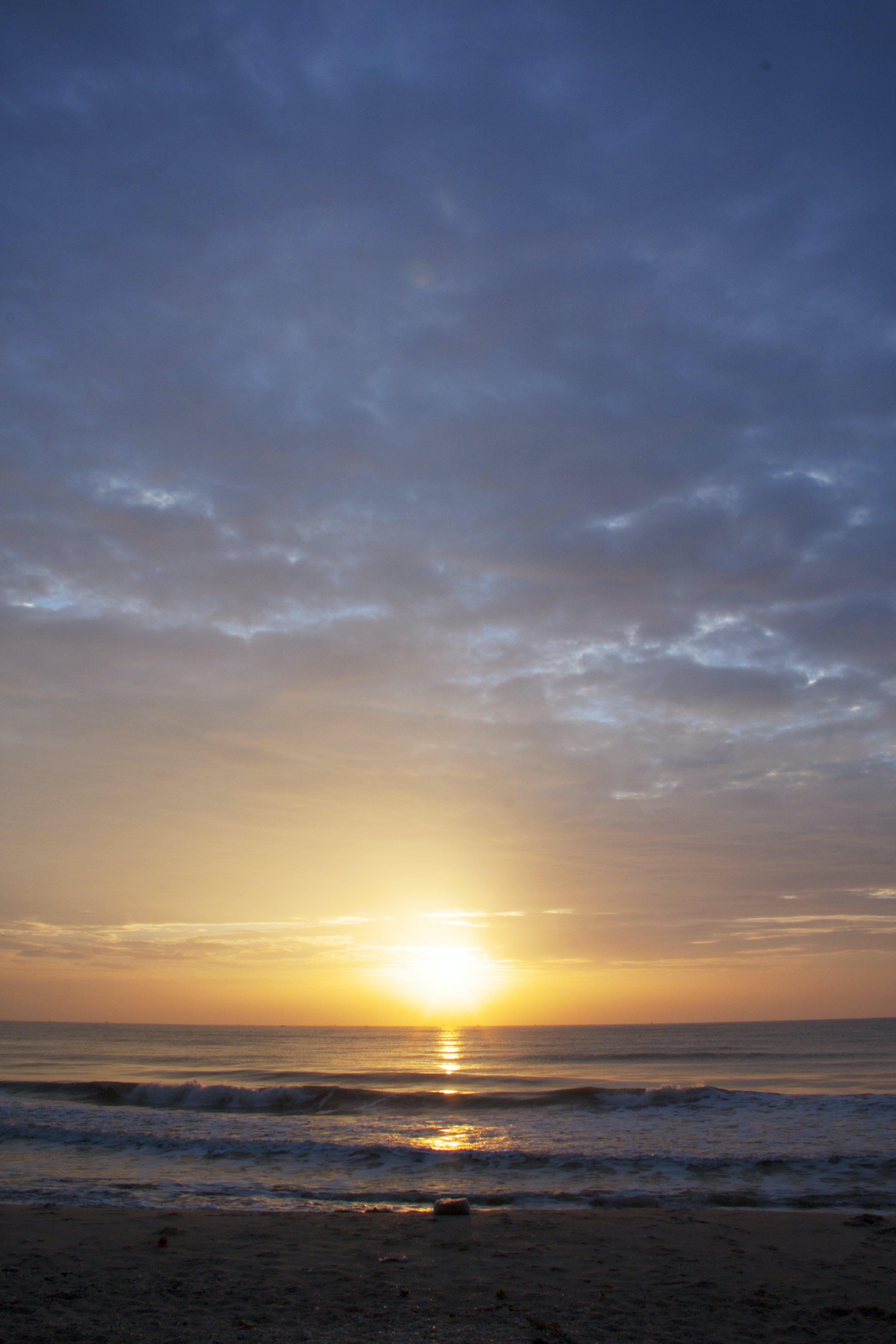 Free stock photo of blue sky, morning, morning sun, sea