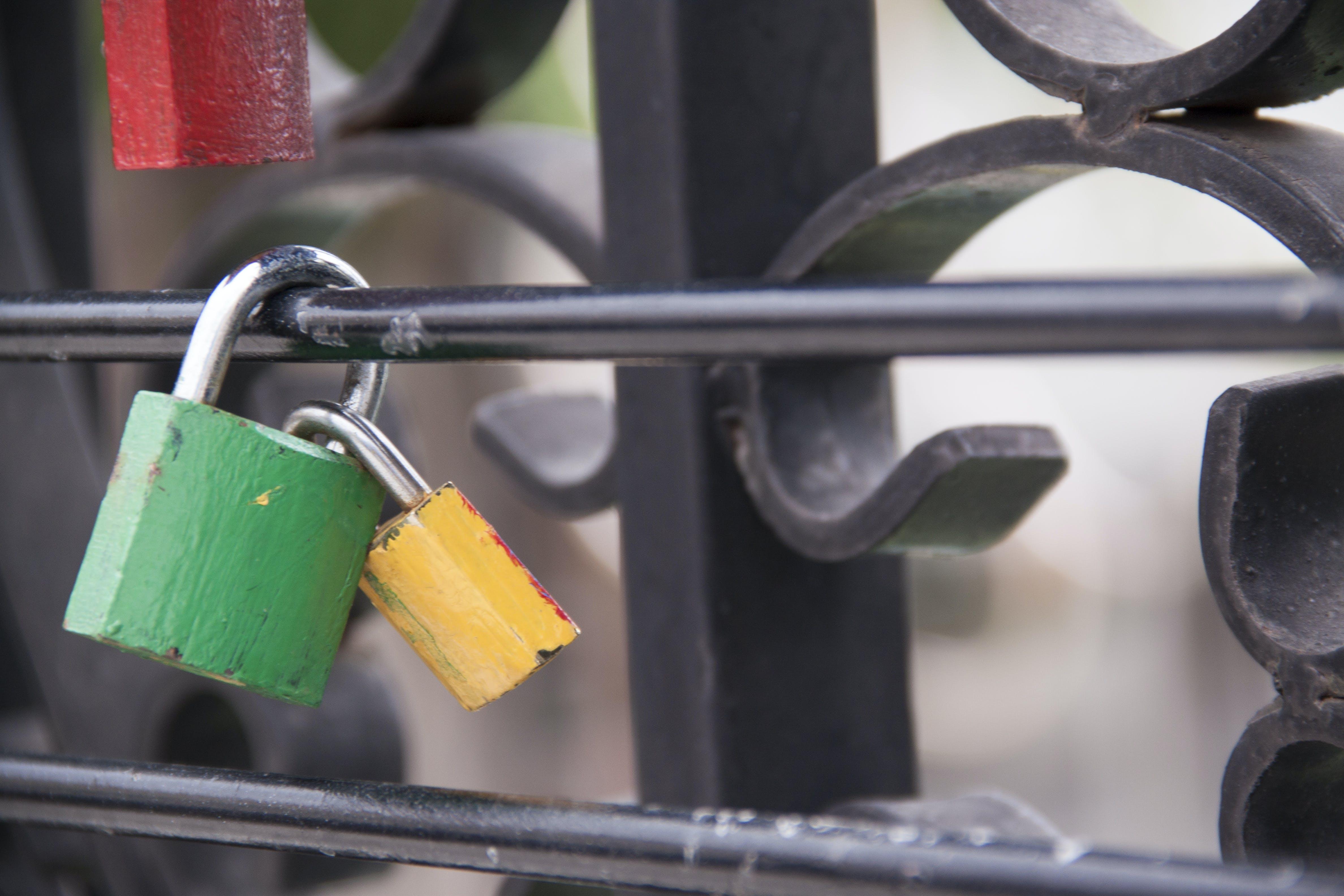 Free stock photo of fence, keys, romantic