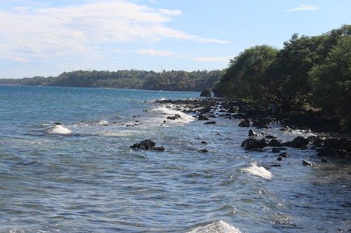 Free stock photo of rock formation, shoreline, waveform