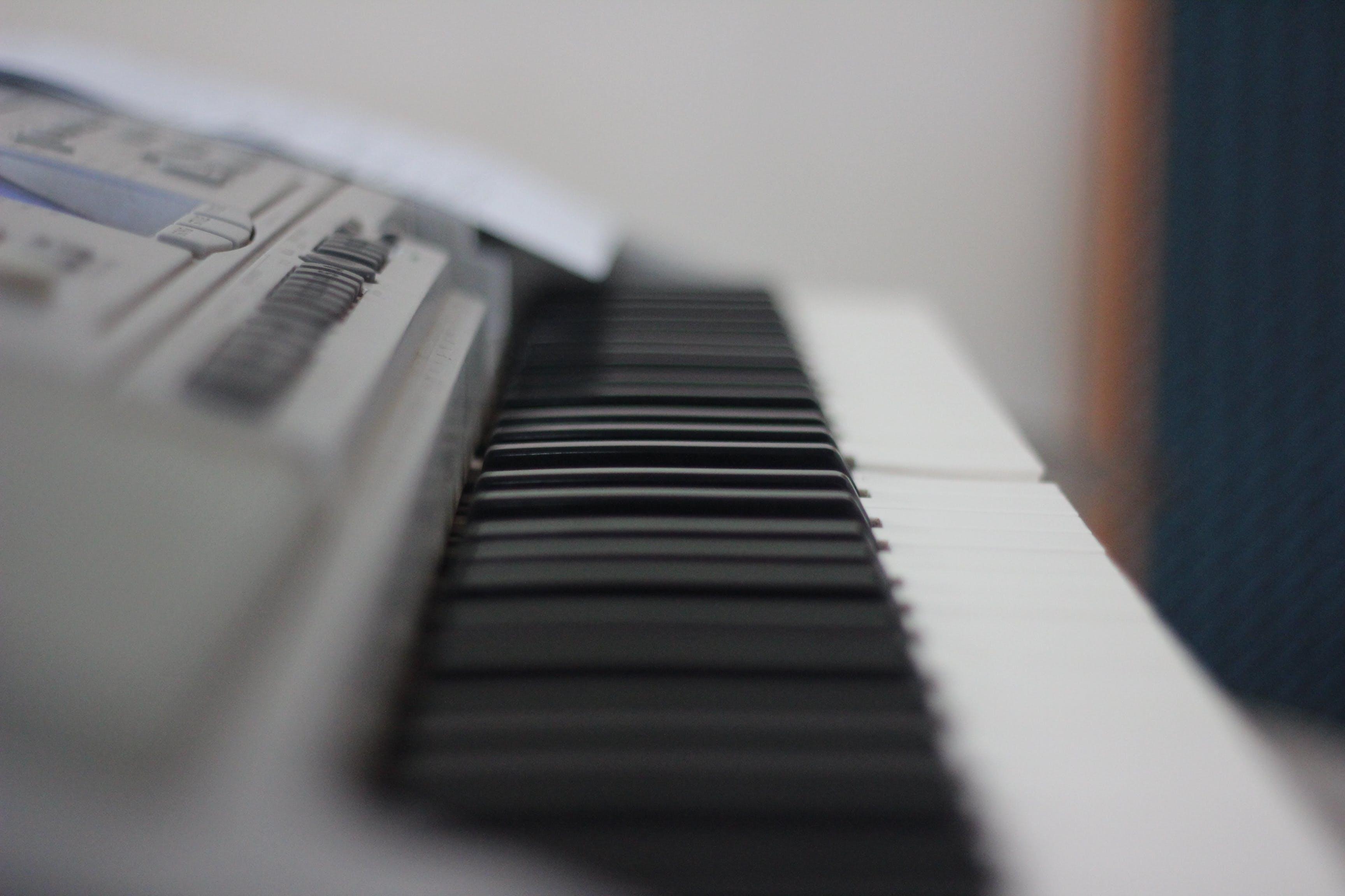 Free stock photo of piano keys