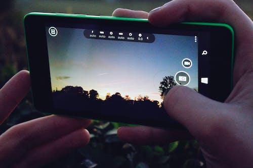 Kostenloses Stock Foto zu fotografie, handy, iso, landschaft
