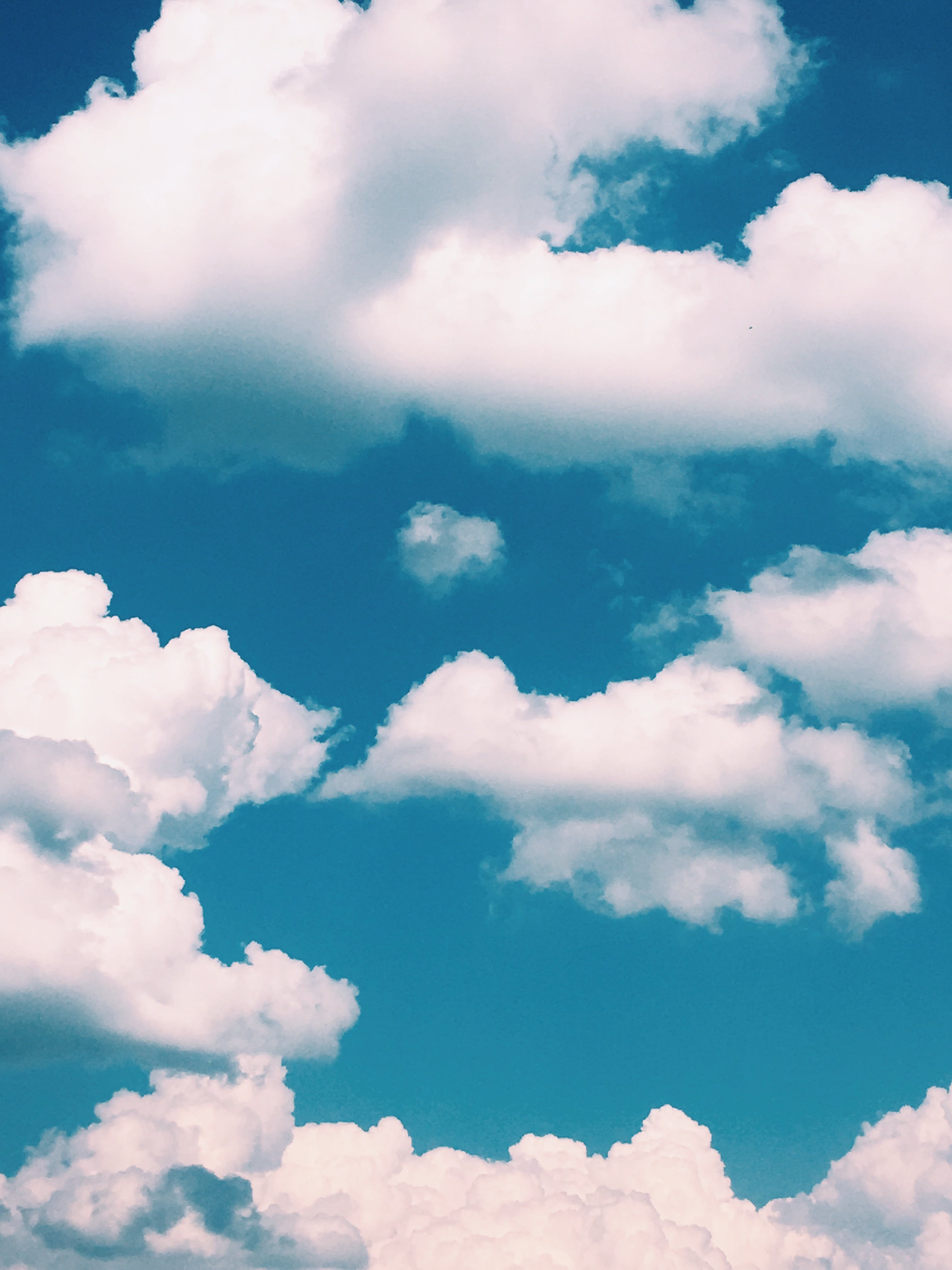 Free stock photo of clouds, summer, colourful, blue sky