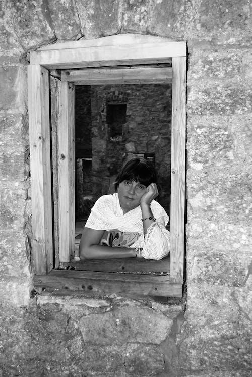 Free stock photo of black and white, sadness, woman