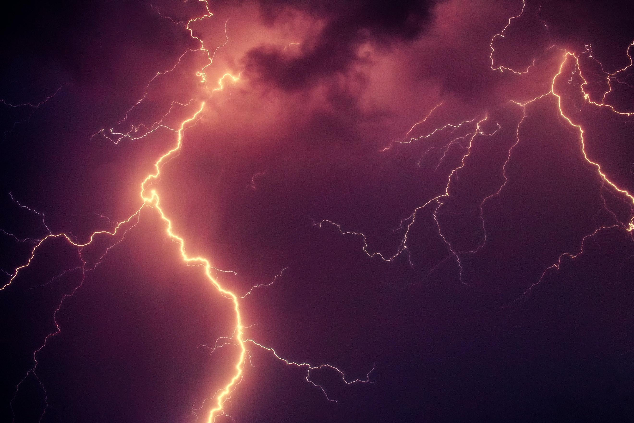 white lightning heating mountain 183 free stock photo