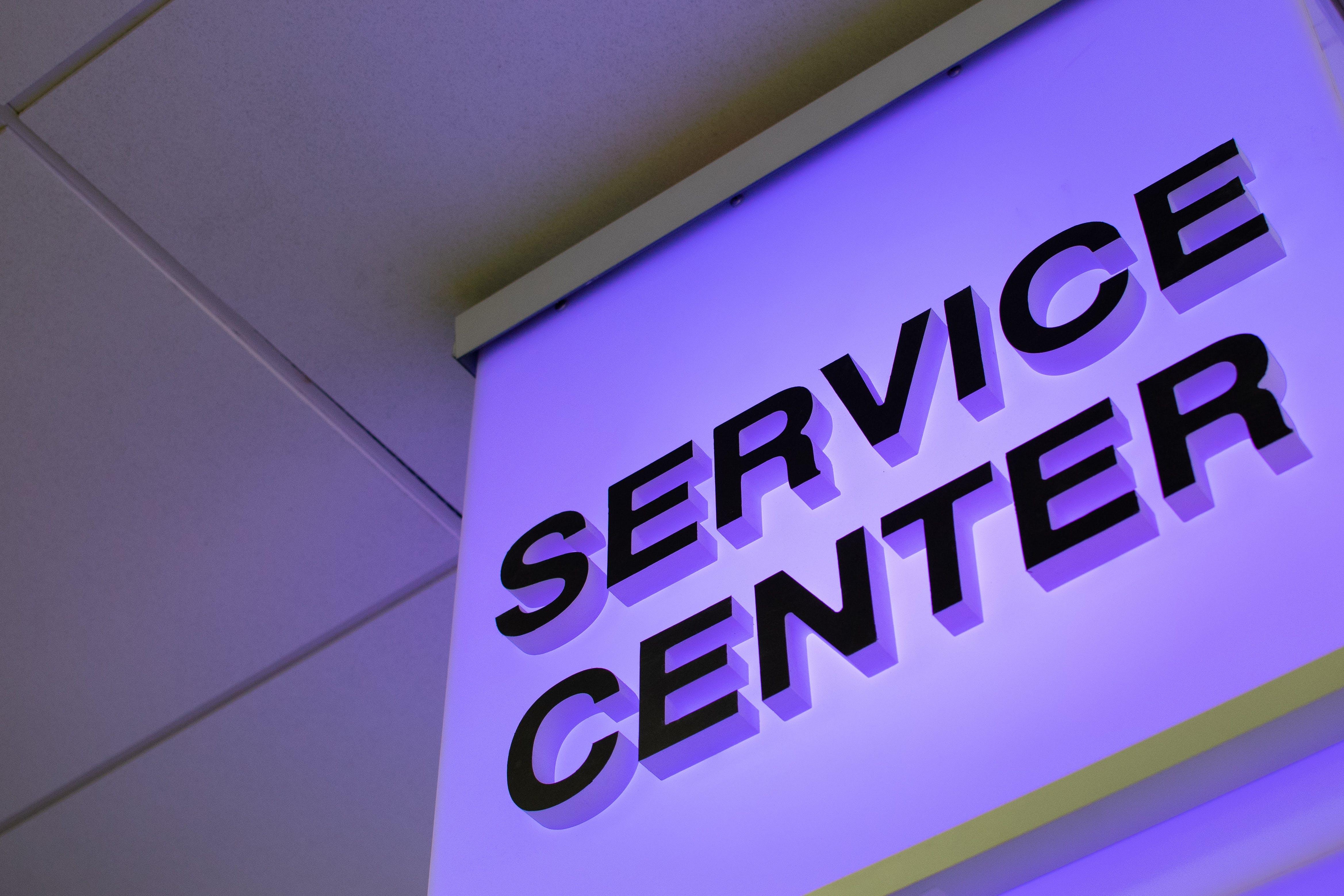 Service Center Signage