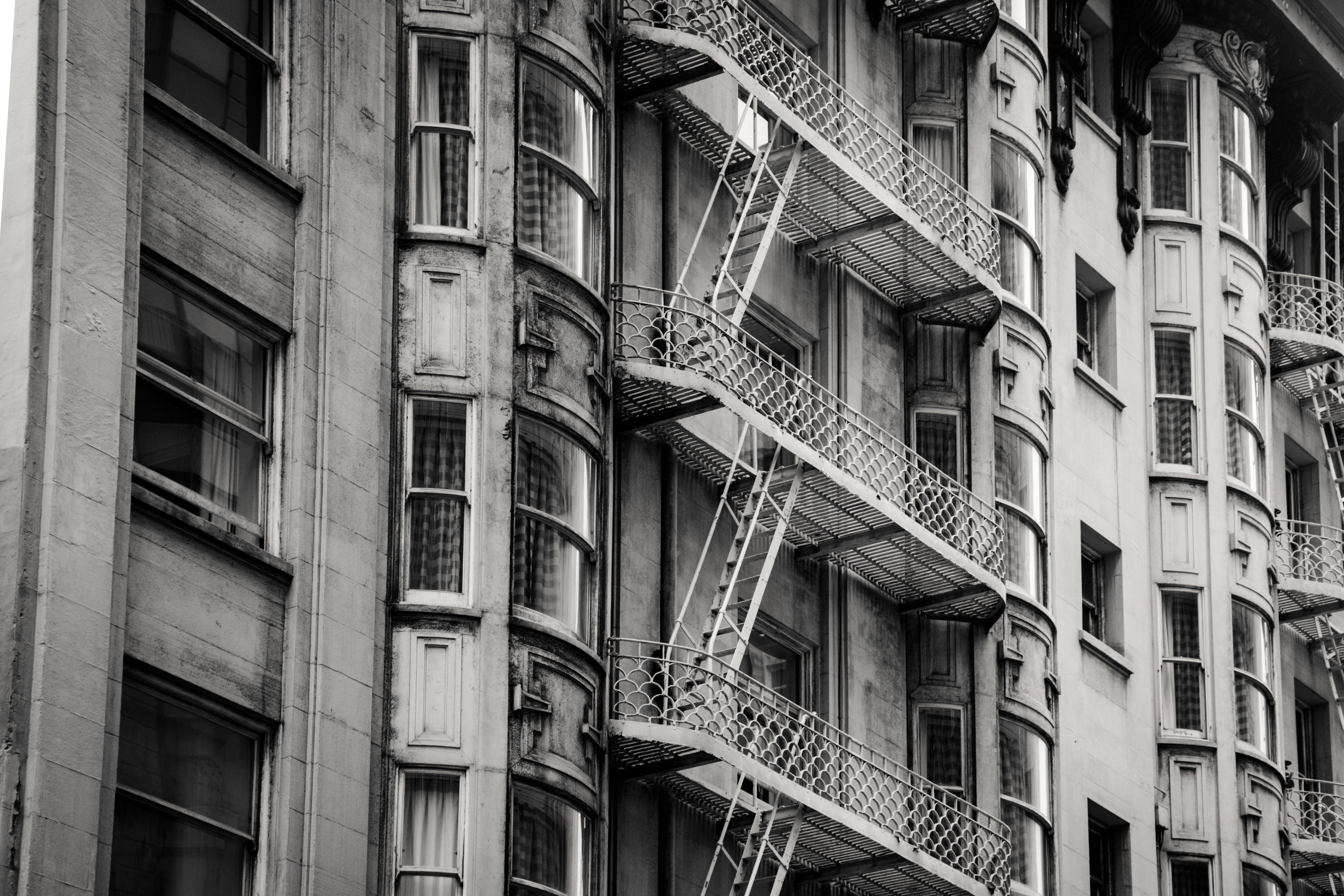 architektur, fenster, gebäude