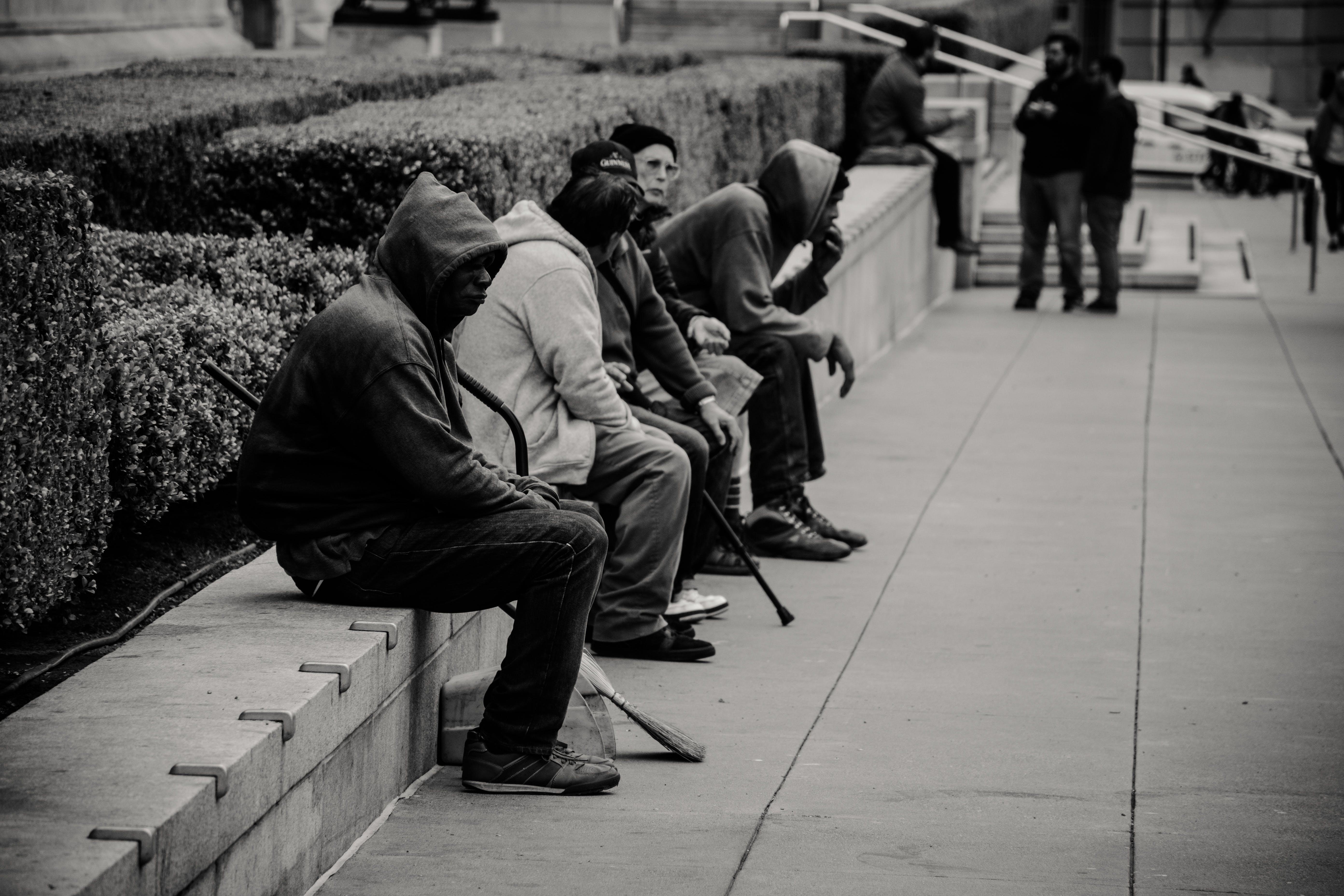 People Sitting Near the Garden