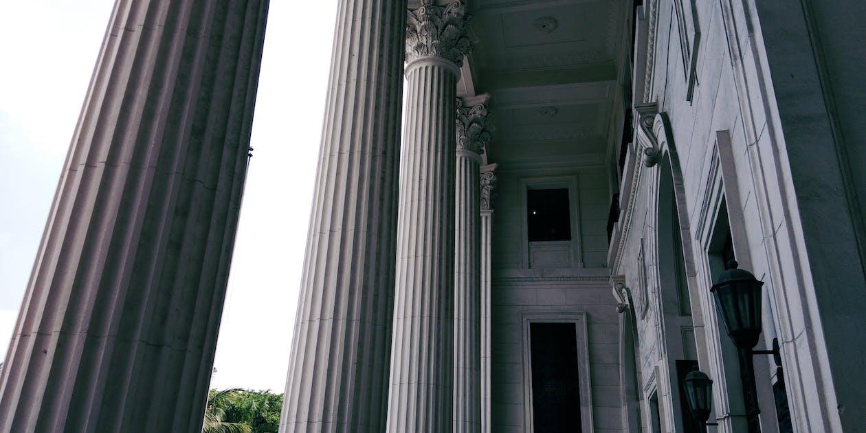 architektur, museum, spalte