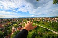 city, sky, houses