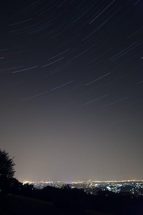 Бесплатное стоковое фото с горизонт, город, городской пейзаж, ночь