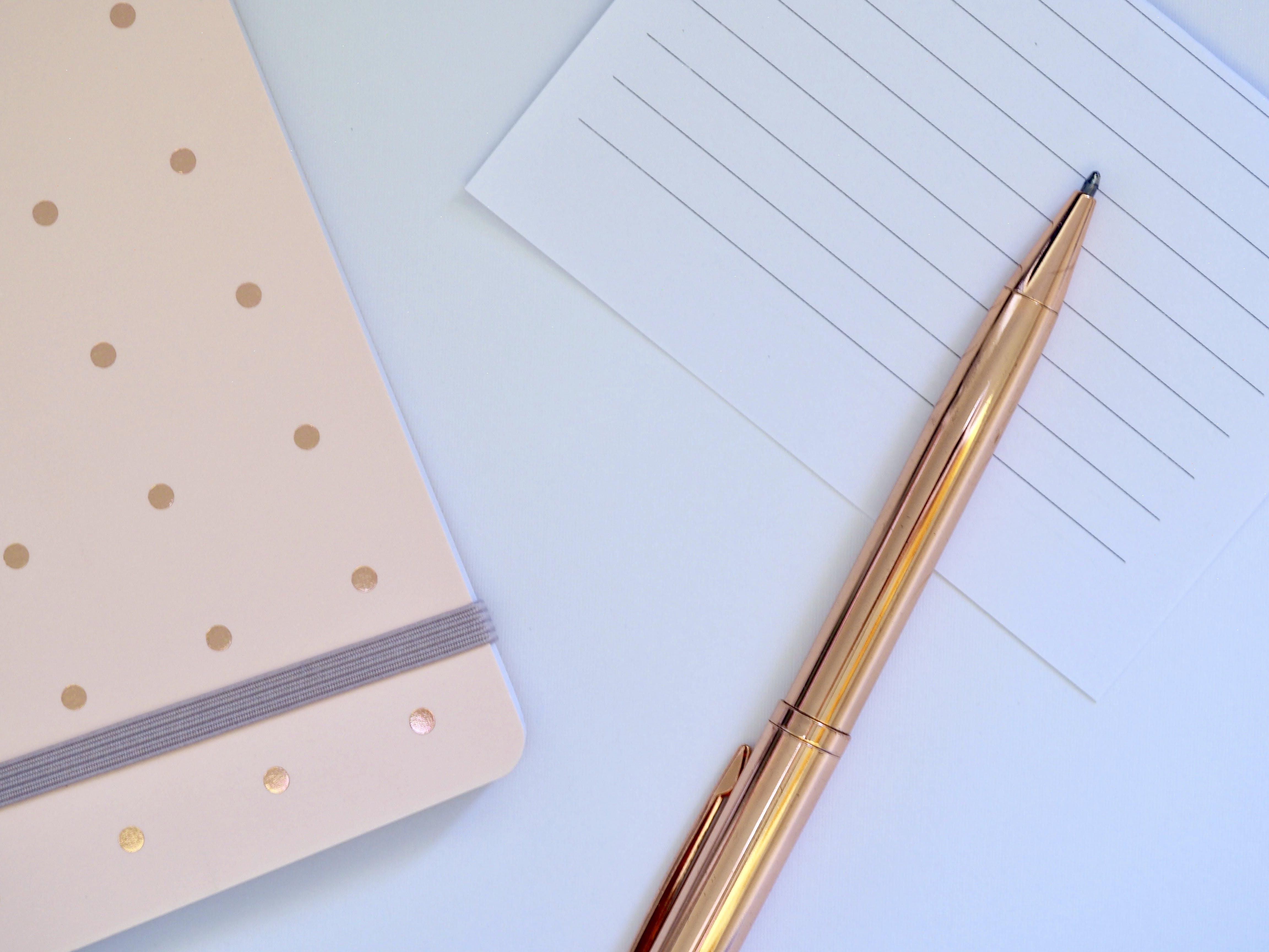 kugelschreiber, leer, notizbuch