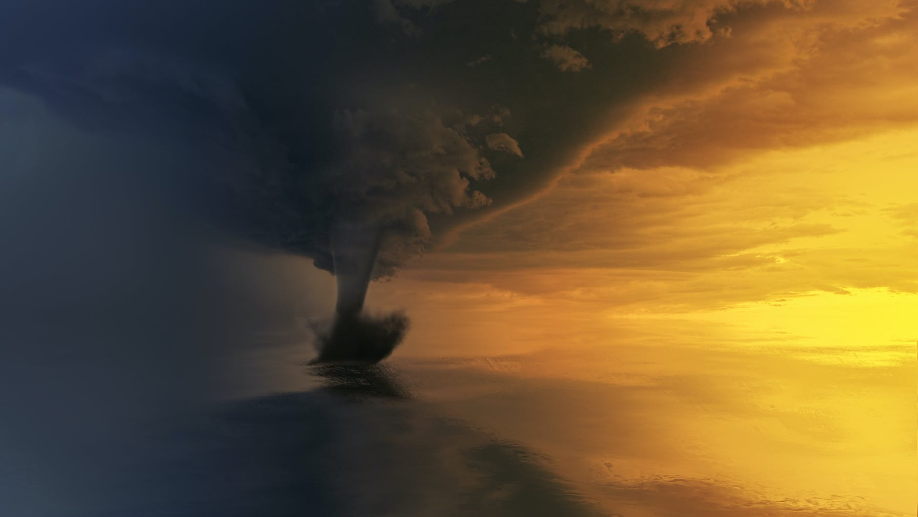 tornado in the middle of the sea