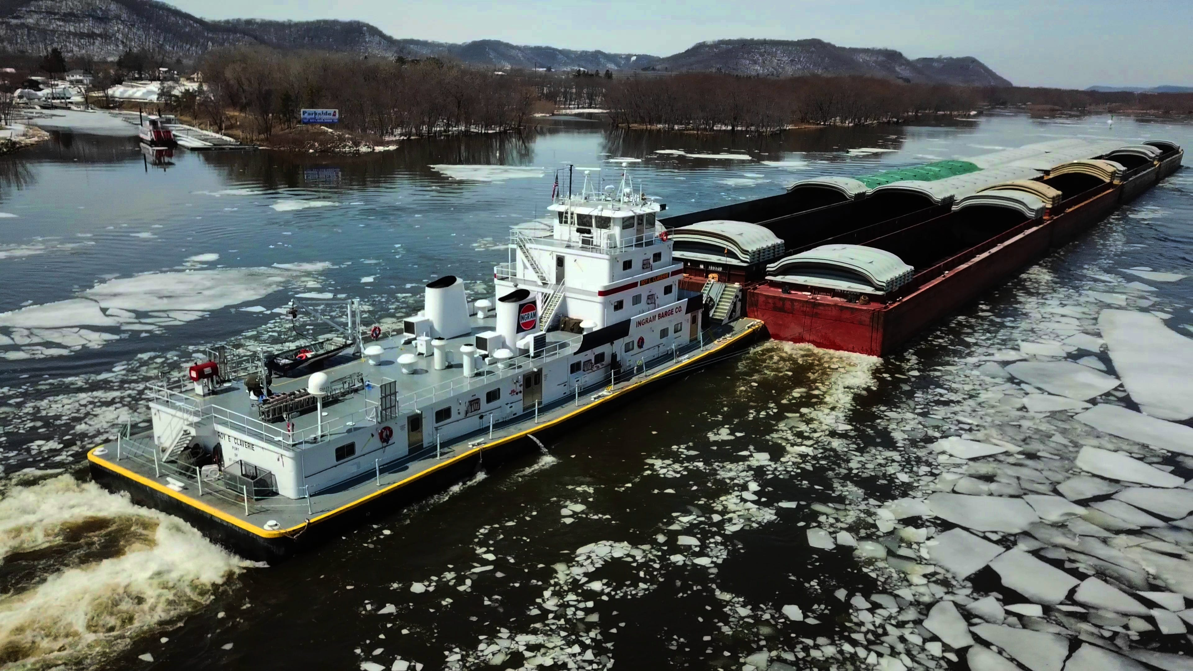 Free stock photo of barge, drone, drone cam, drone view