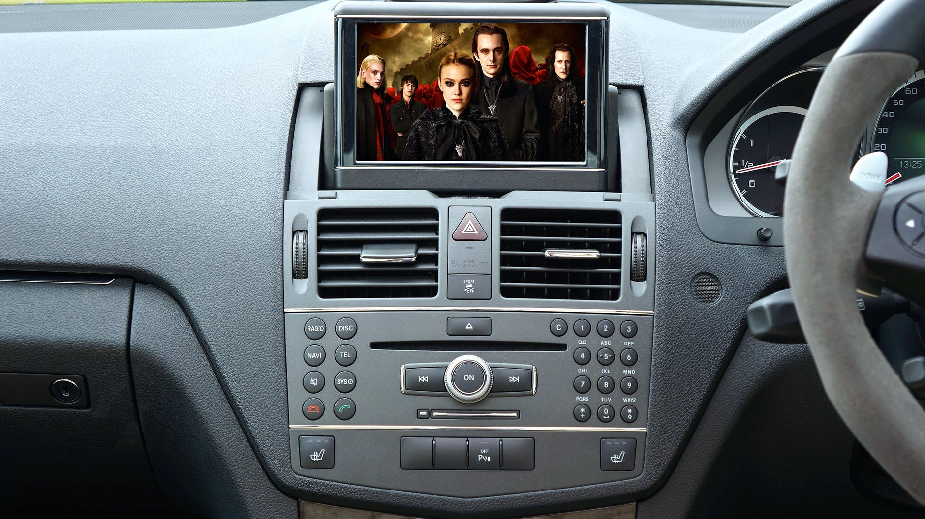Photo of a dashboard of a car