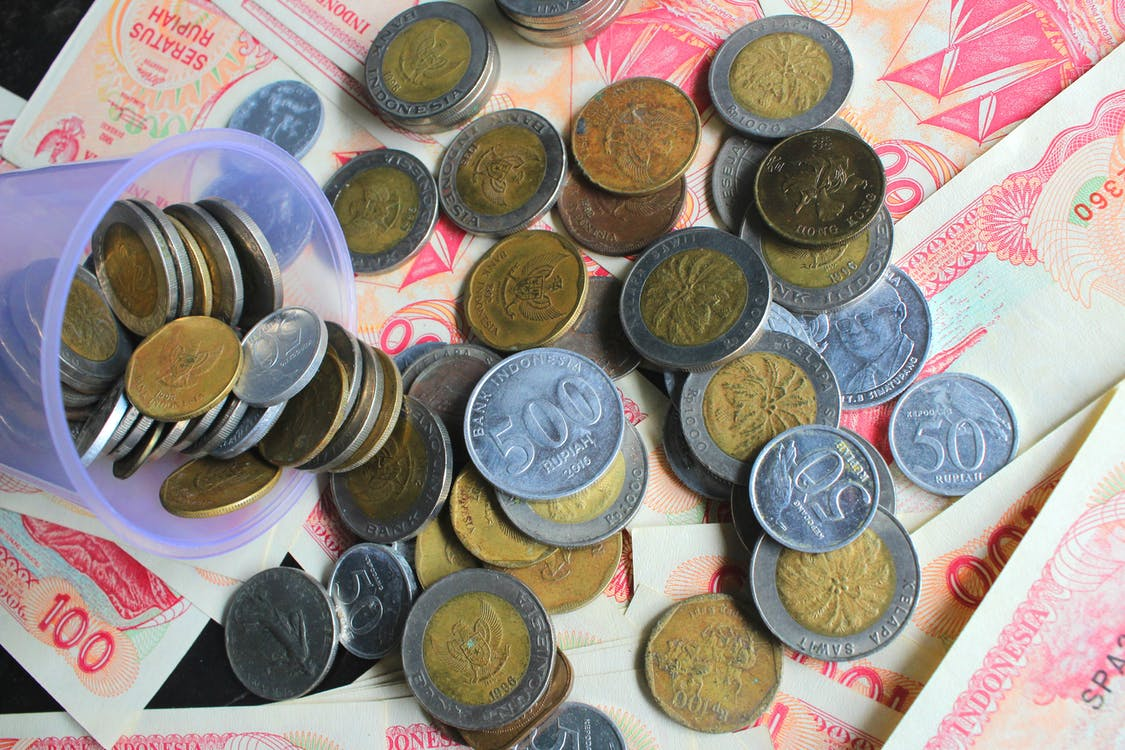 bank, coin, indonesia