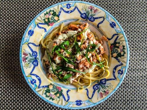 Free stock photo of carbonara, food, pasta, plate