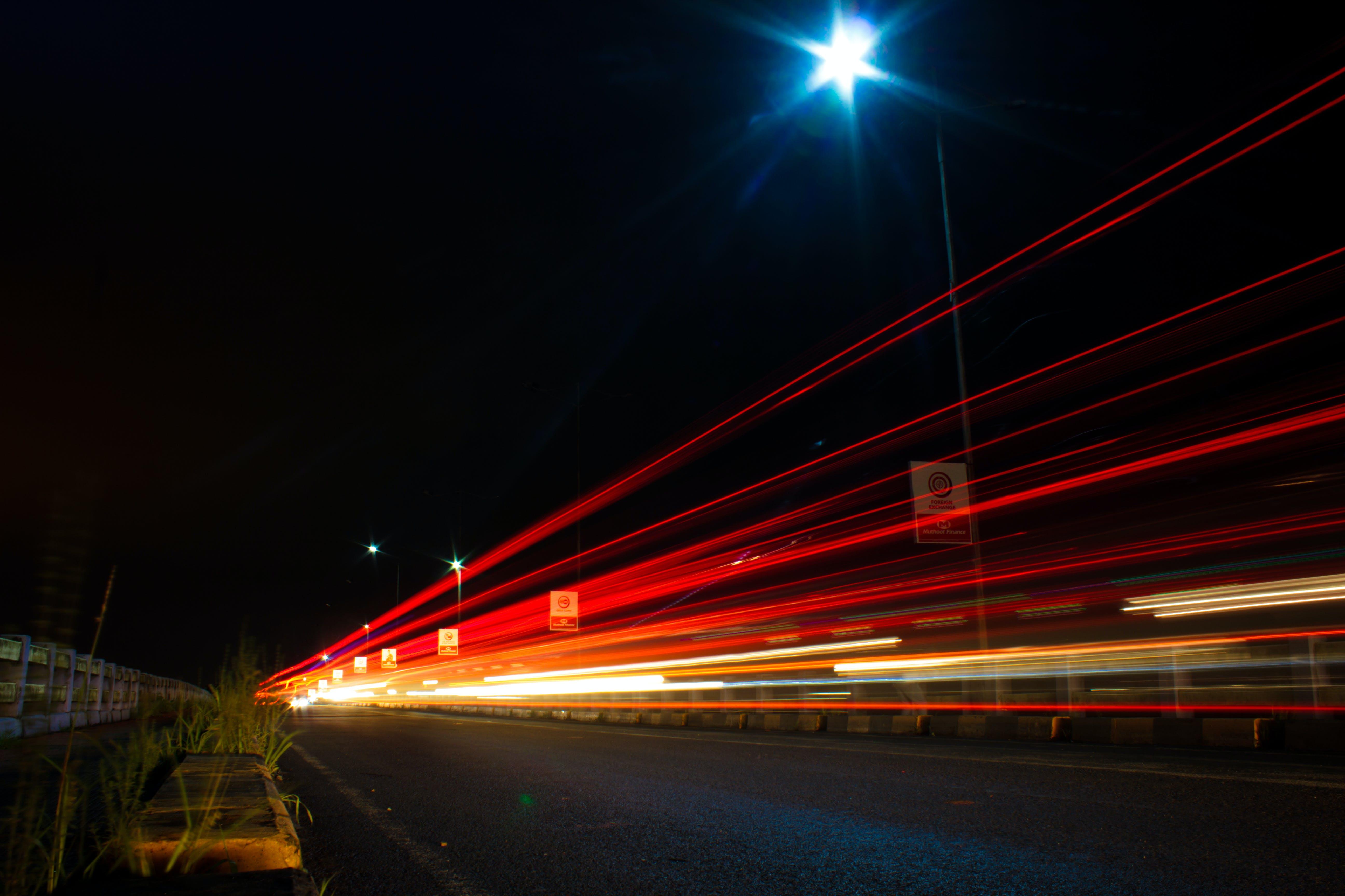 Free stock photo of light beam, light rales, long exposure, red