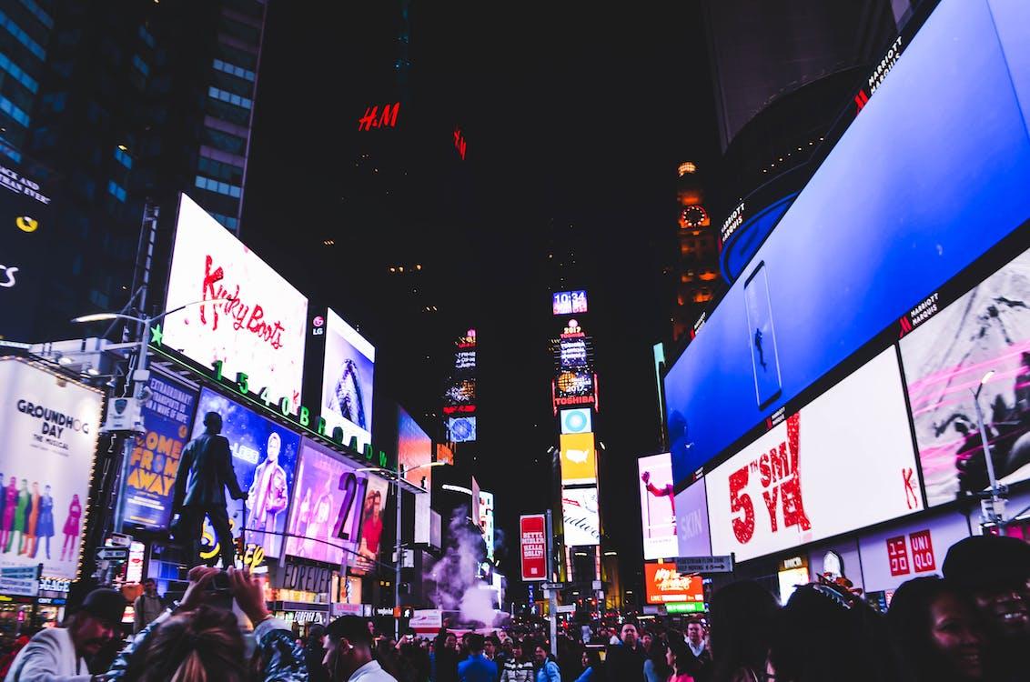 архитектура, билборд, Бродвей