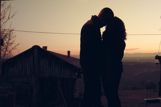 Free stock photo of dawn, sunset, couple, love