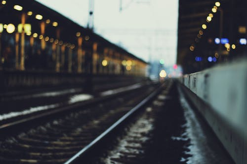 Selective Focus Photography of Train Track
