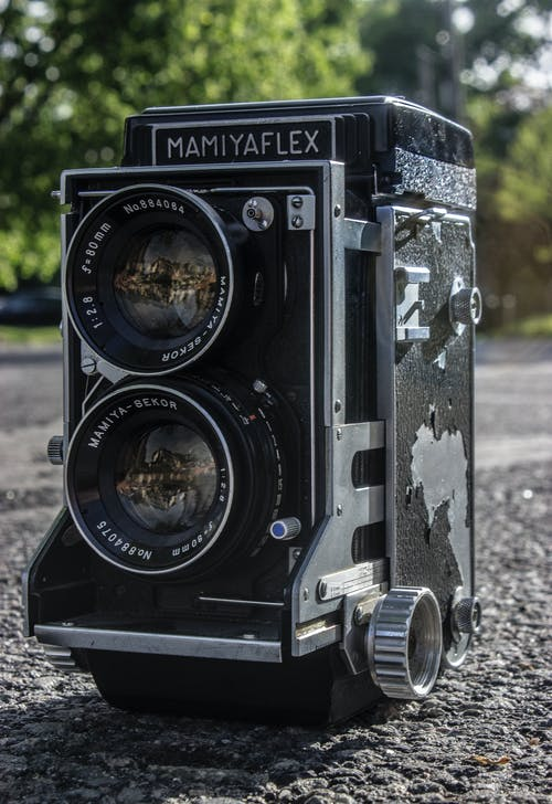 Black Mamiyaflex Vintage Camera