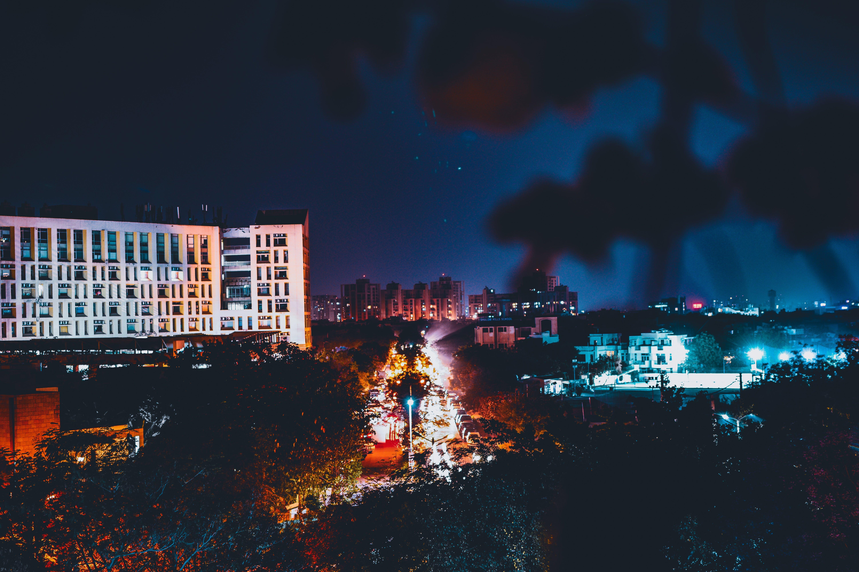 Kostnadsfri bild av arkitektur, byggnad, byggnader, kväll