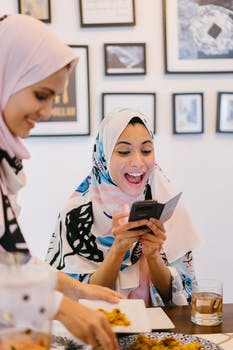 Woman Wearing White and Pink Hijab