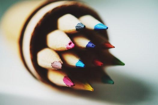 Colored Pencil in Tilt Shift Lens