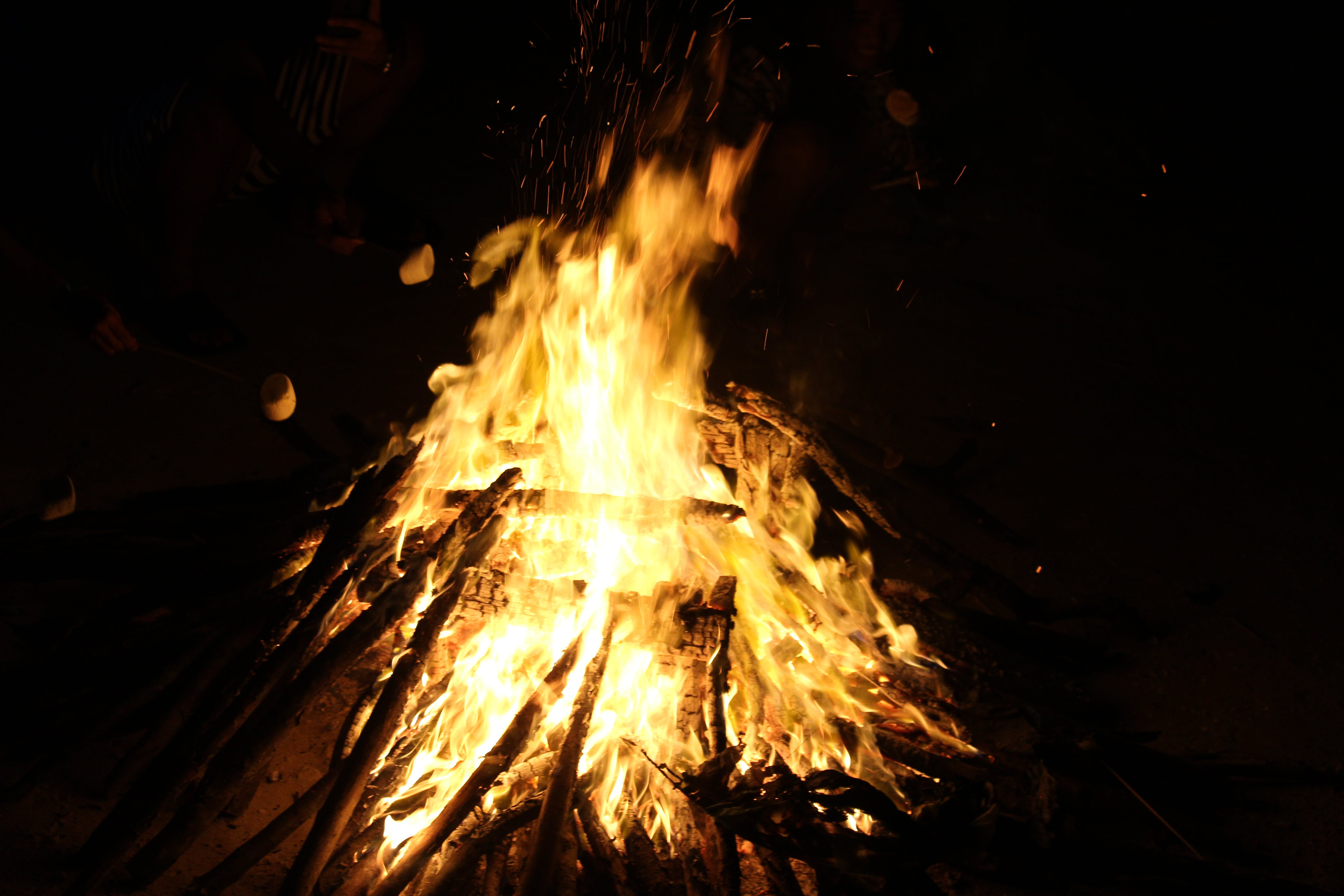 Bonfire during Night