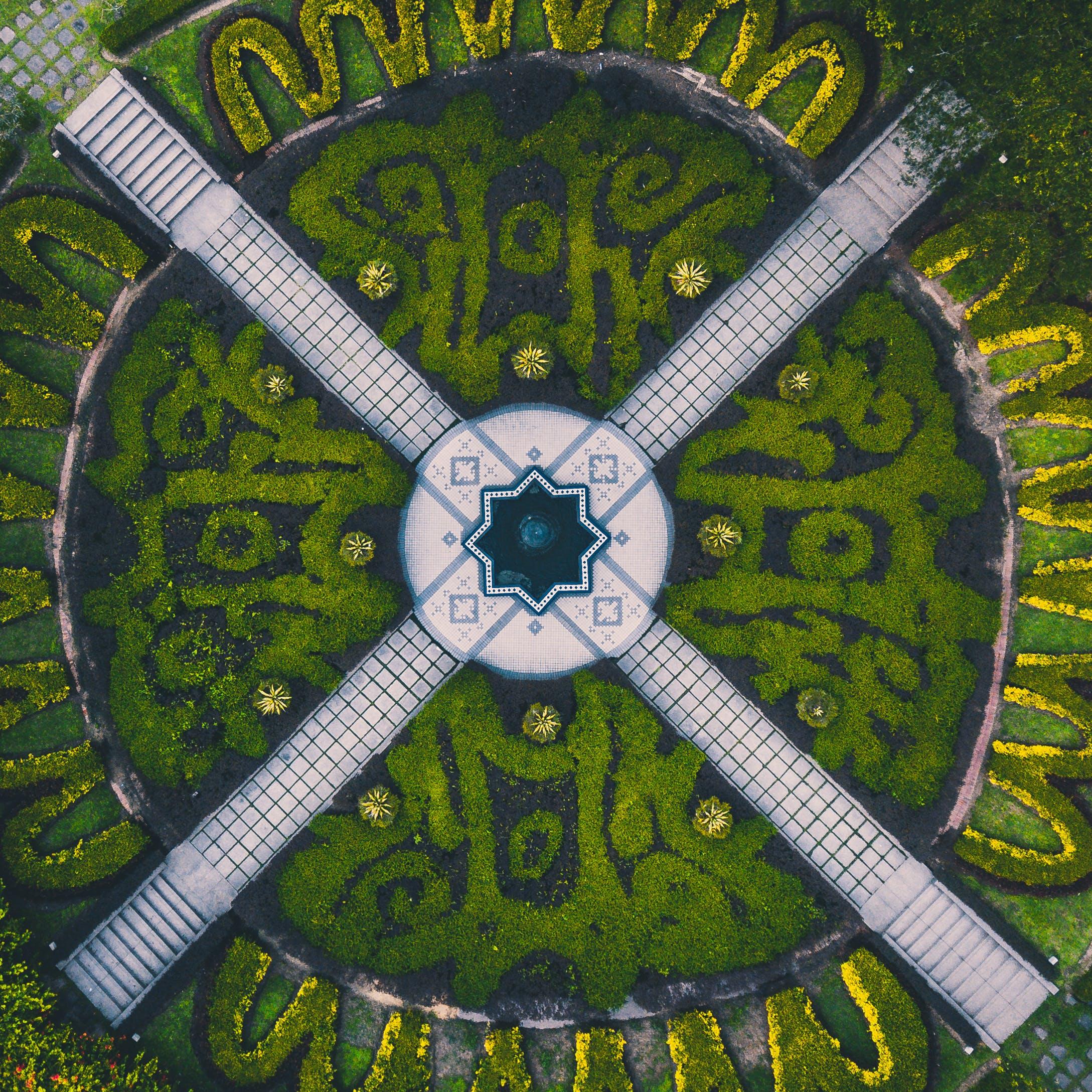 Aerial Photography of Green Garden