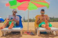 beach, sunglasses, people