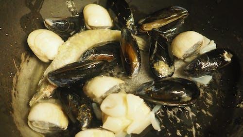 คลังภาพถ่ายฟรี ของ กุ้ง, ทำอาหารทะเล, ปู, หอยแมลงภู่