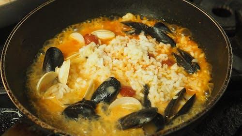 คลังภาพถ่ายฟรี ของ ข้าวริซอตโตซีฟู้ด, น่ากิน, ริซอตโต้, อาหารทะเล