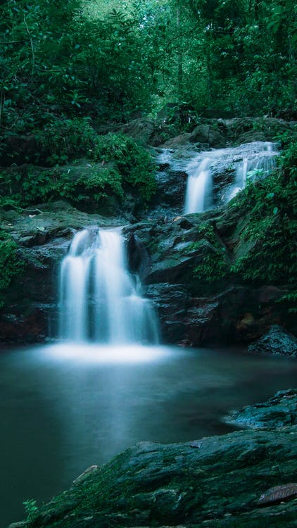 вода, водопады, гора