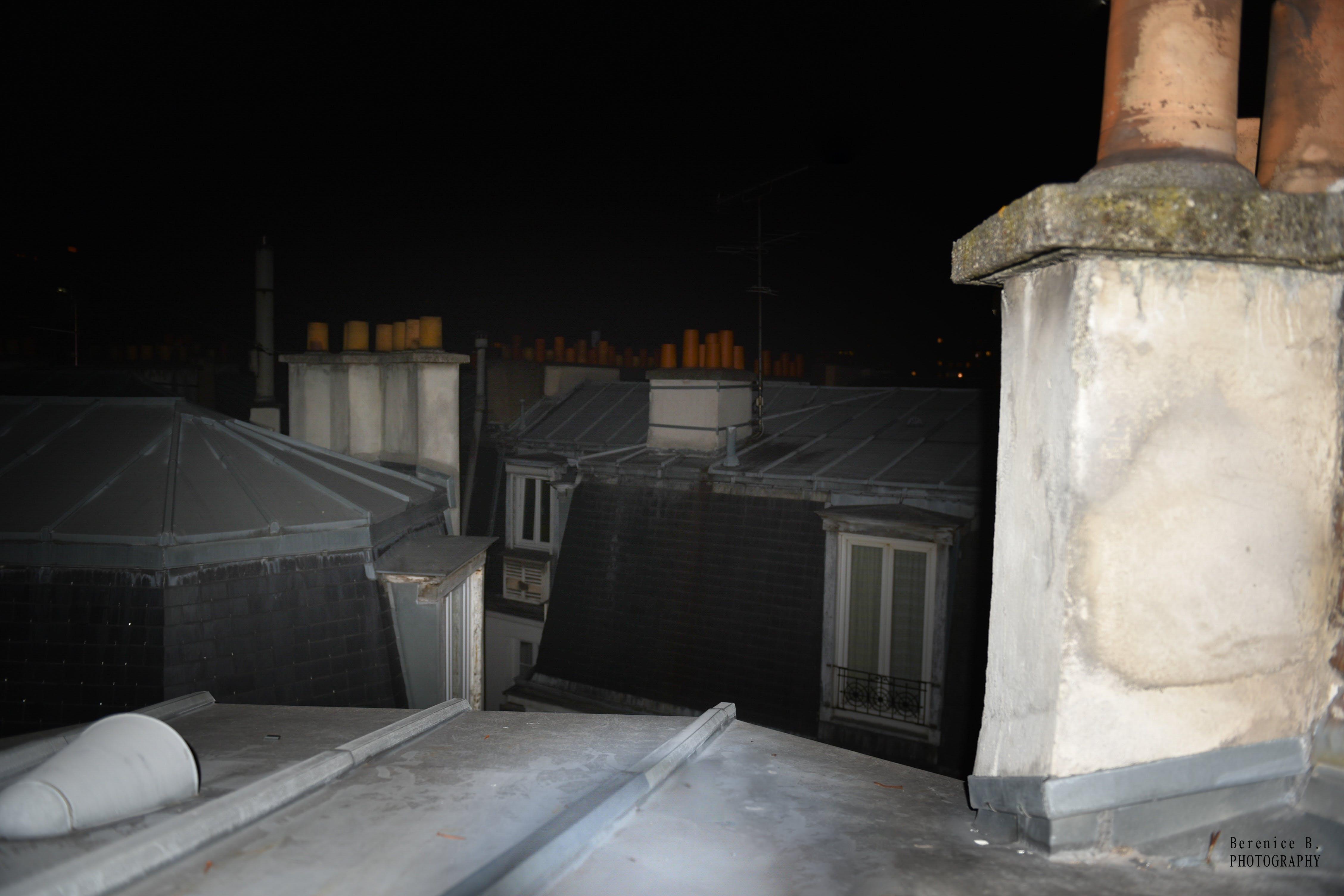 Free stock photo of cheminee, fenetre, toit
