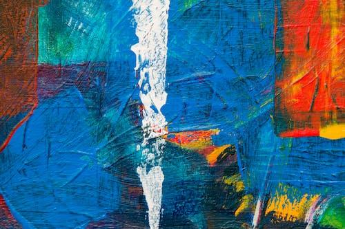 Gratis lagerfoto af abstrakt ekspressionisme, abstrakt maleri, akrylmaling, close-up