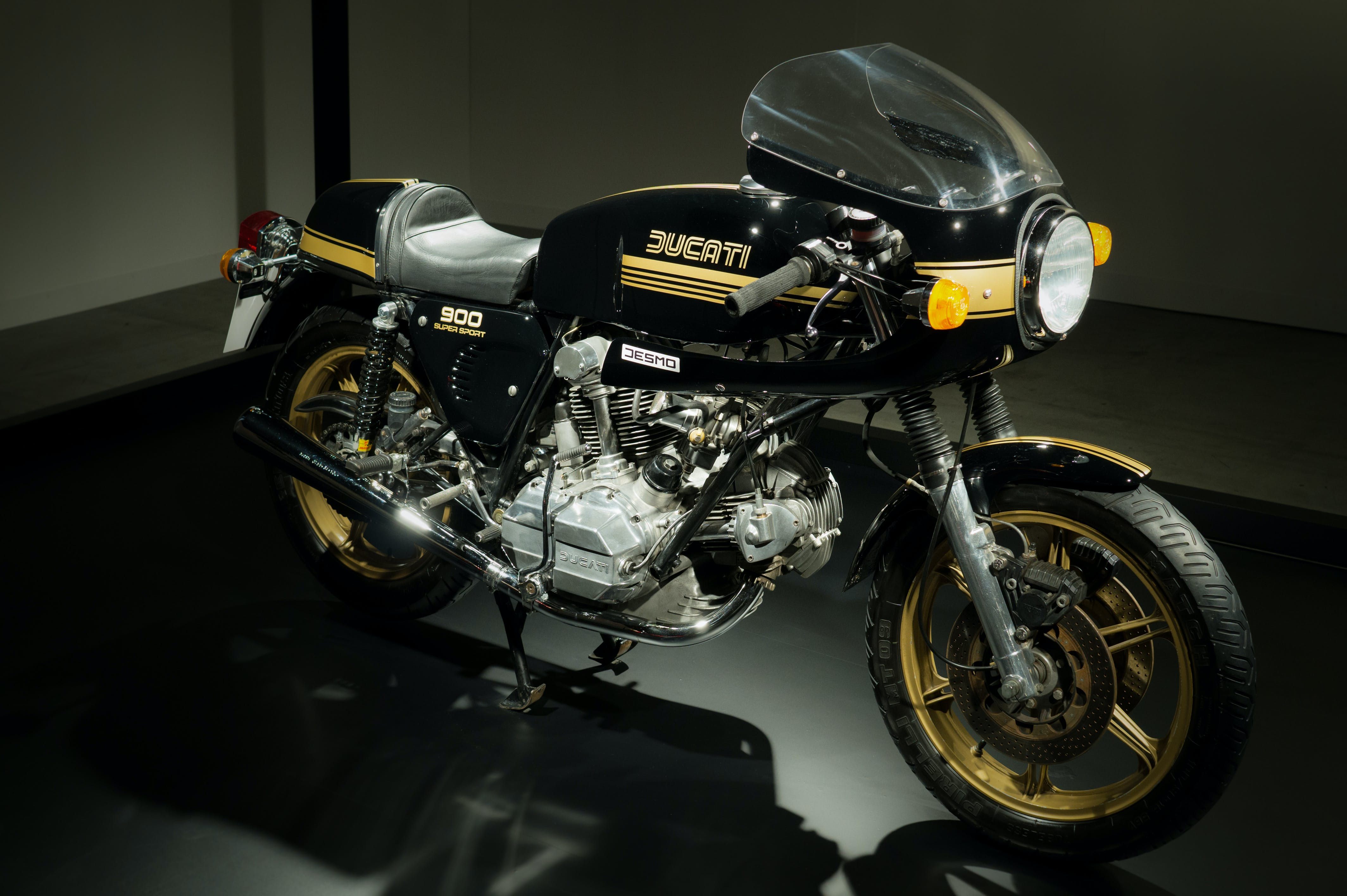 Black Ducati Cafe Racer Motorcycle