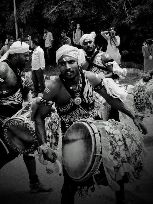 Fotos de stock gratuitas de blanco y negro, cultura, dhol-nagada, etnicidad india
