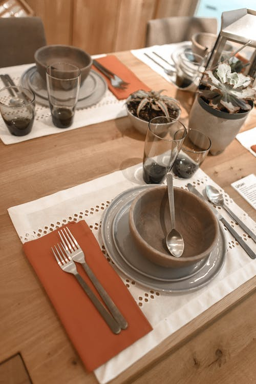 Clear Glass Dinnerware Set