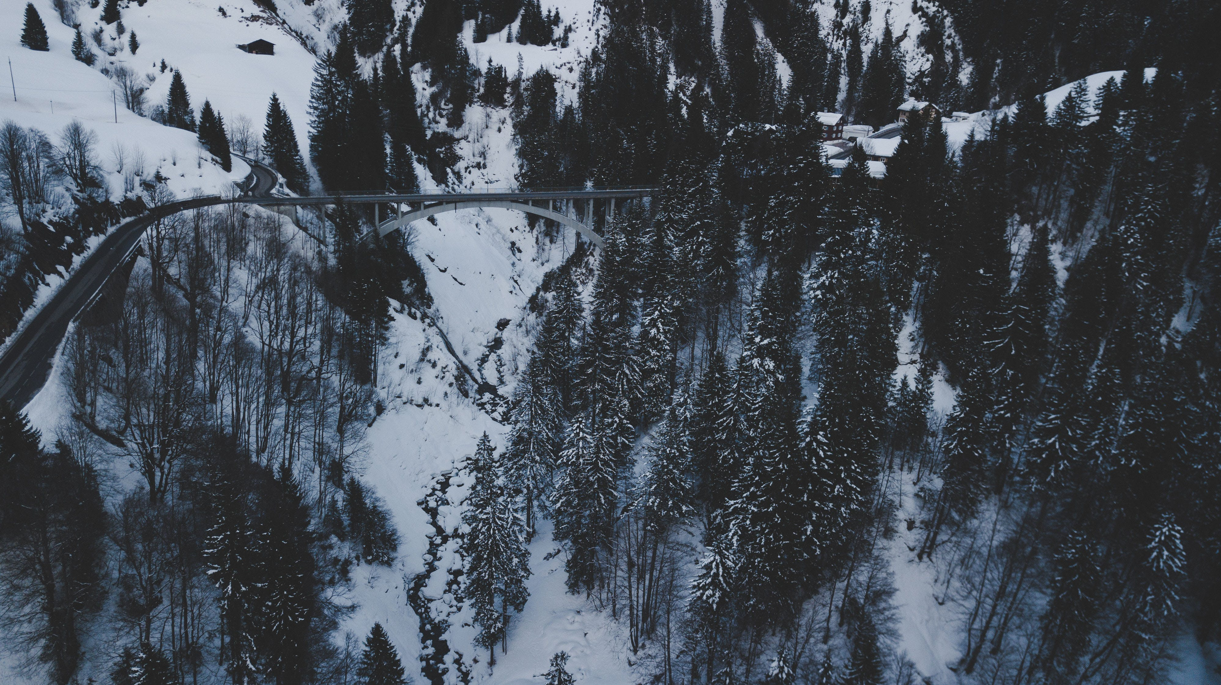 Ingyenes stockfotó híd, hó, tél témában