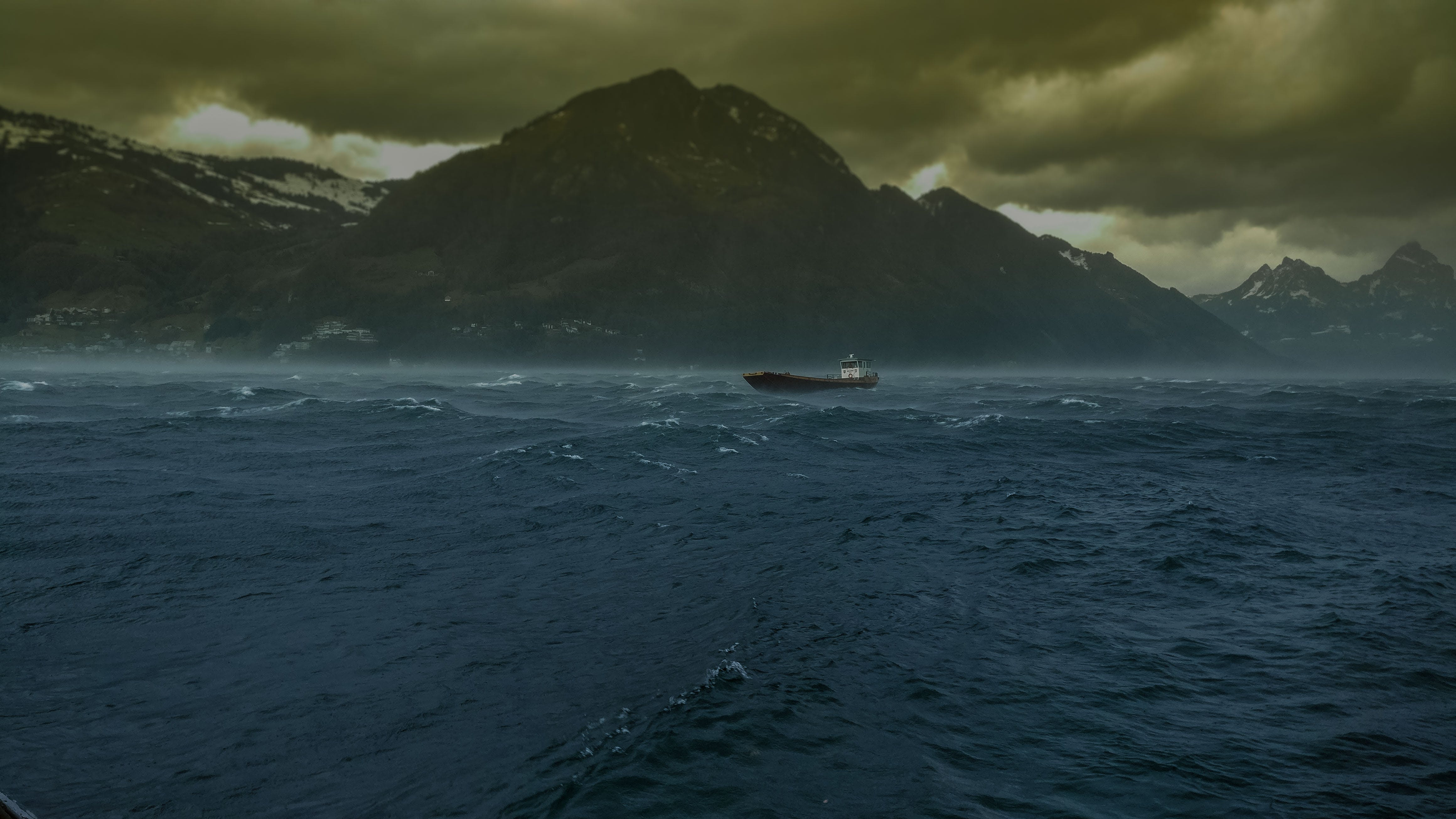 Free stock photo of ship, storm