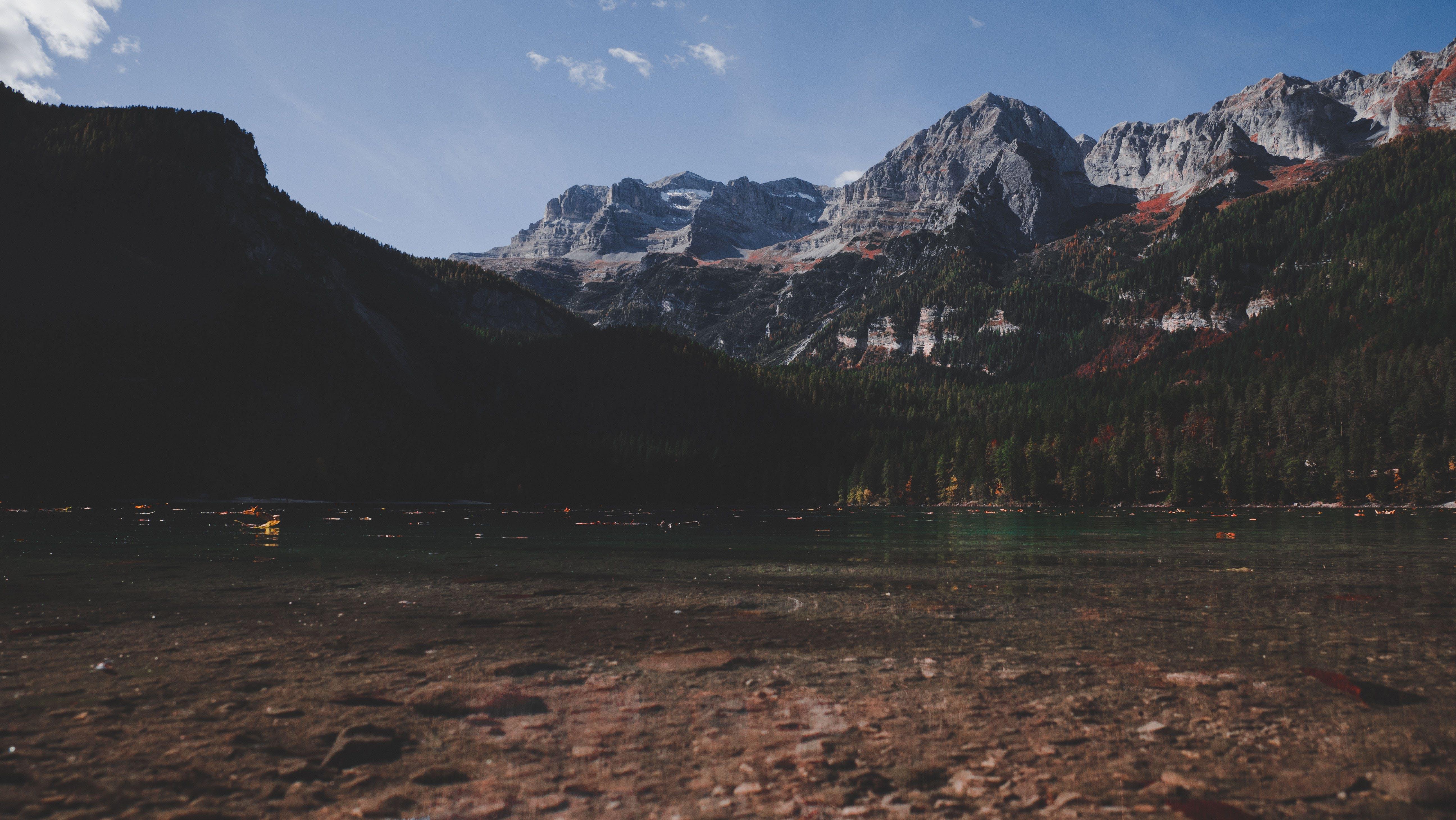 dagslys, fjell, landskap