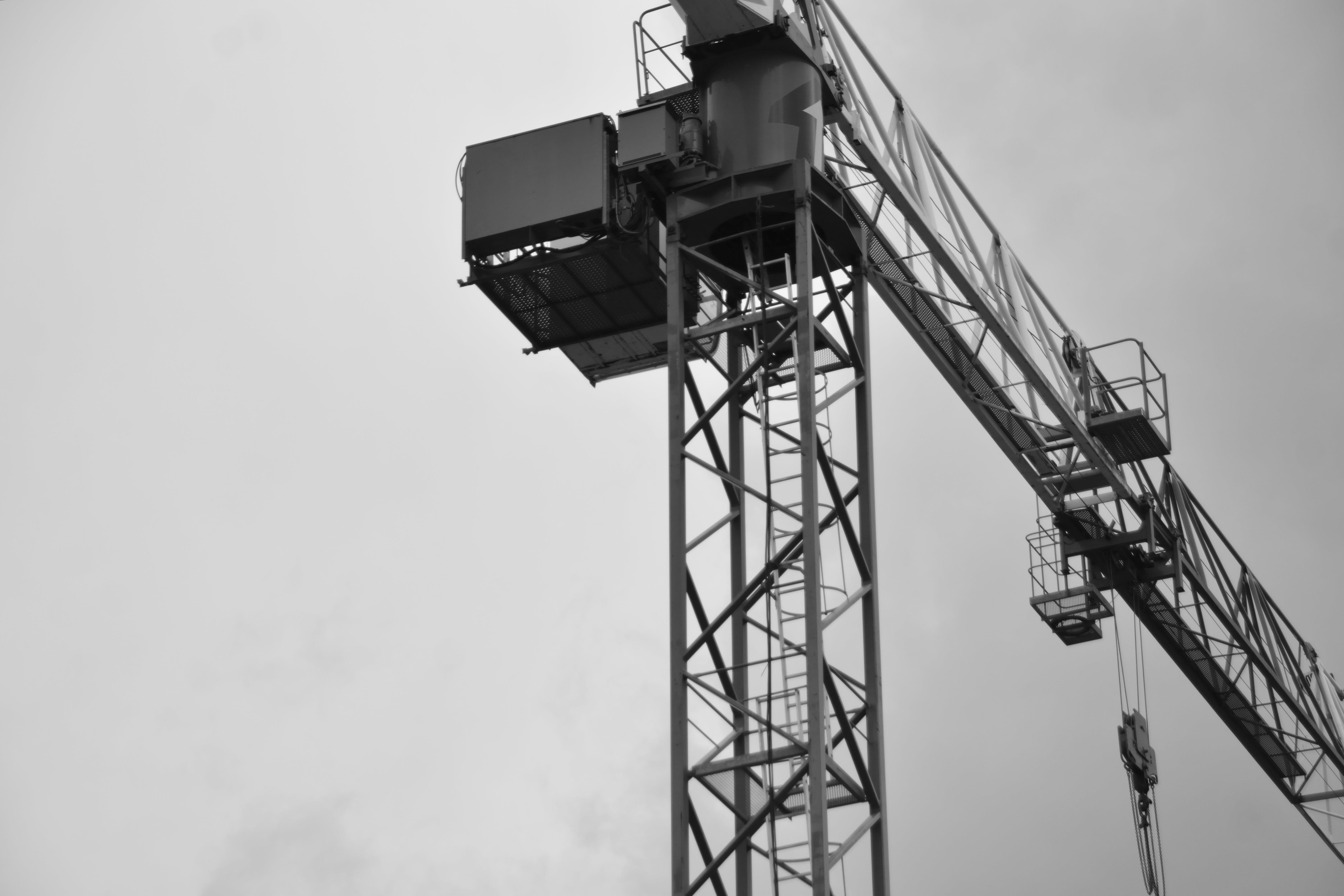 Foto profissional grátis de chantier, ciel, construção, grue