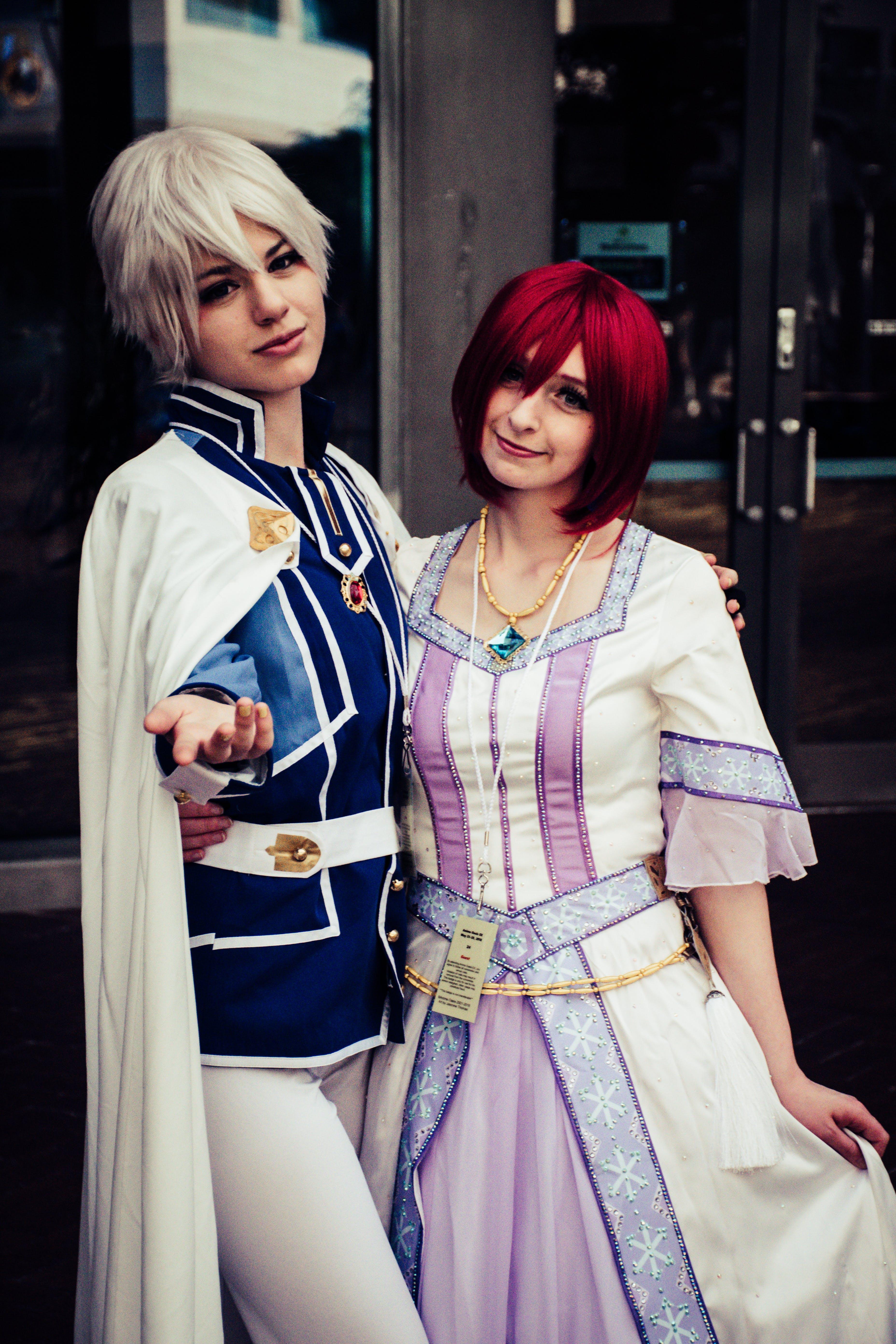 Two Women Wearing Anime Character Cosplay