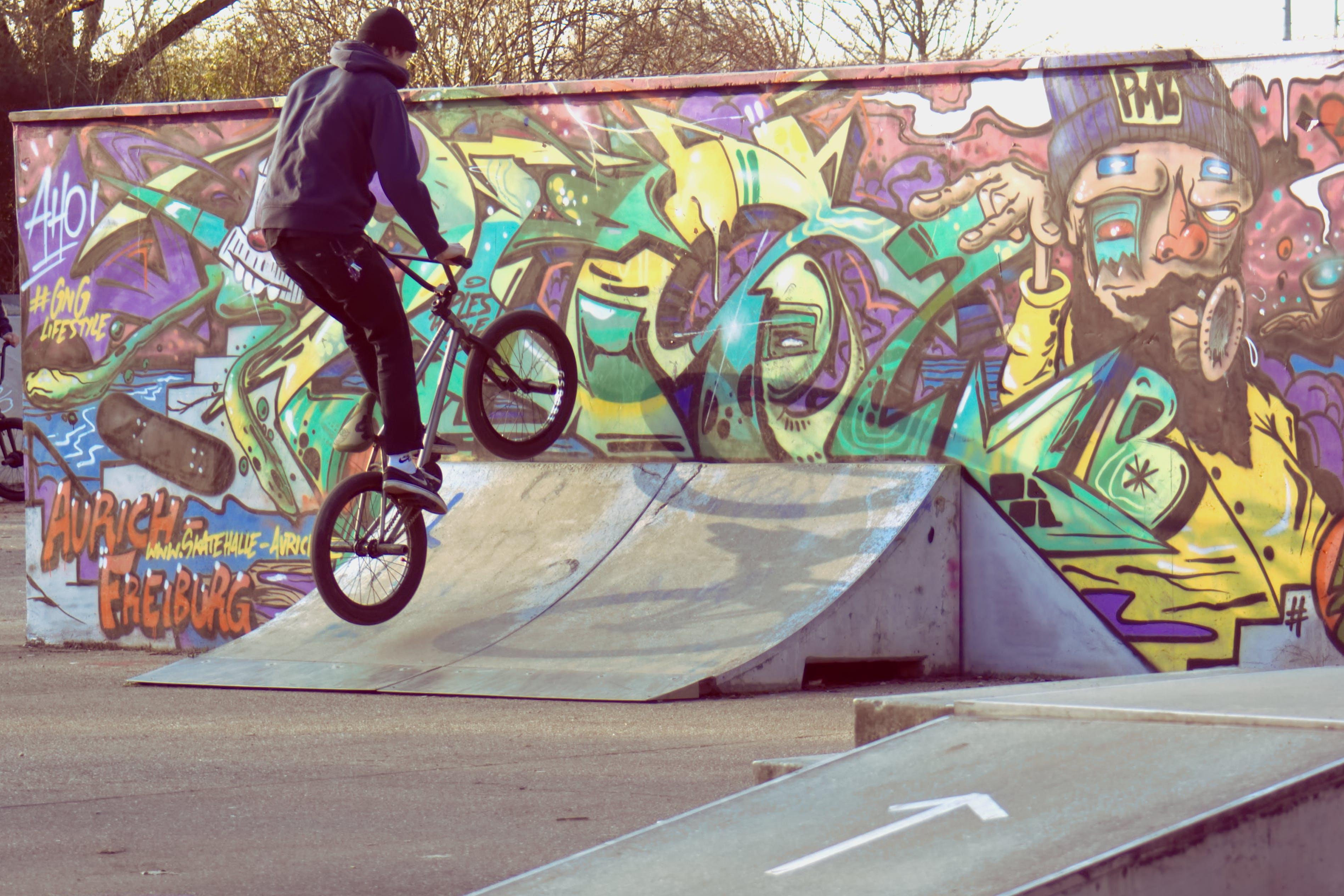 Free stock photo of bike, skate, skatepark
