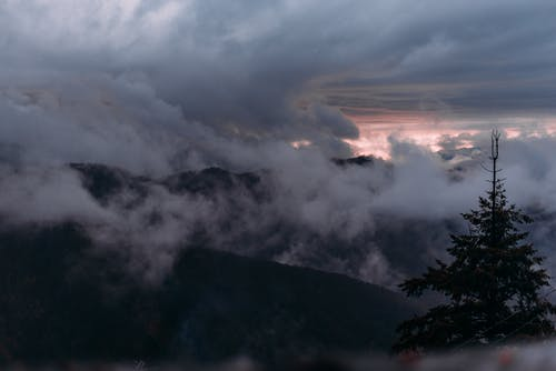 Free stock photo of blue mountains, clouds, dark, italy