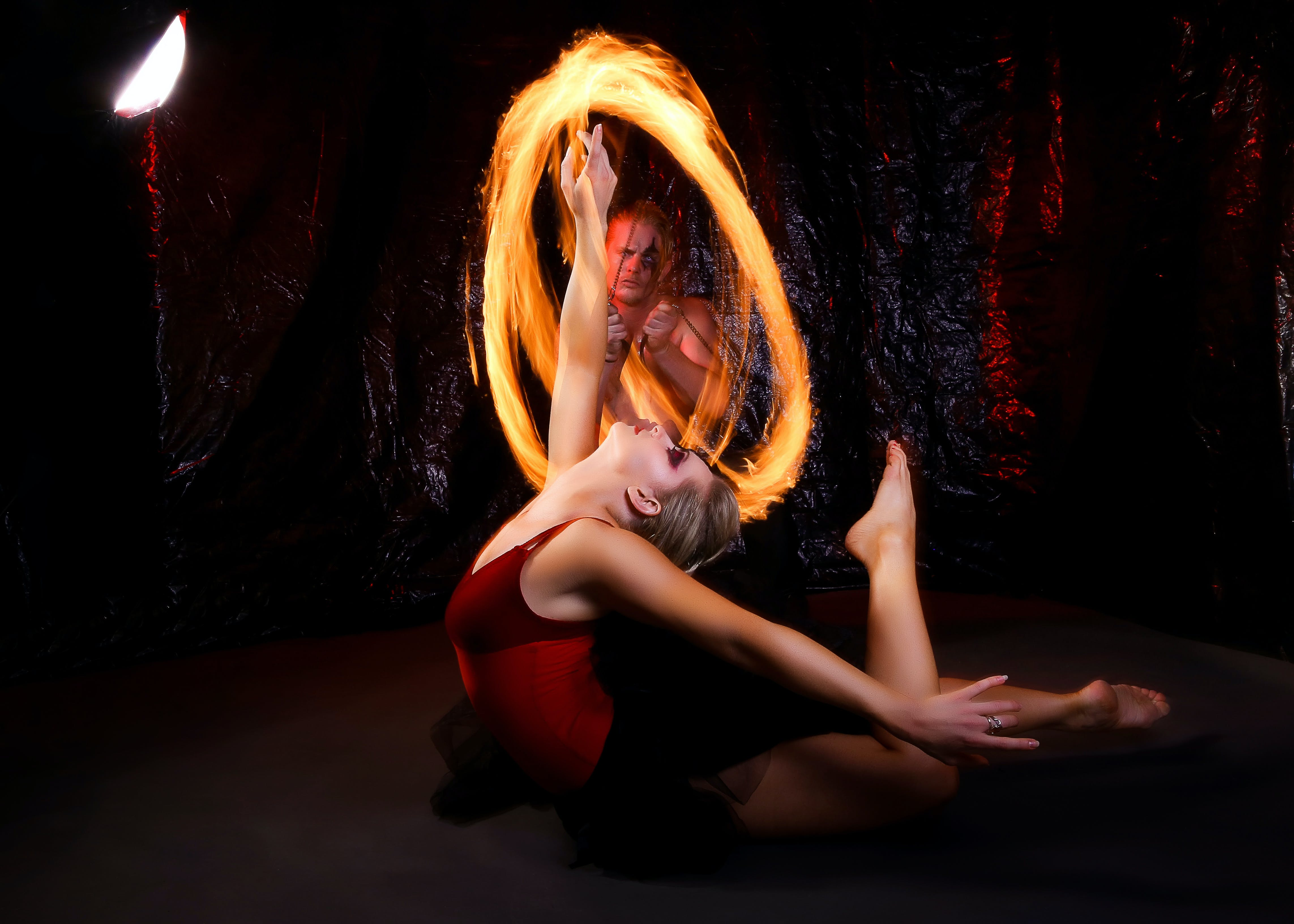 balletdanser, brand, dans