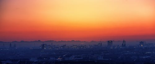 Scenic View of City During Dawn